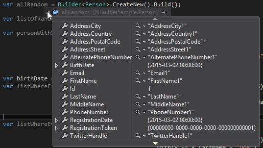 NBuilder i Compare .Net Objects - Zawartość obiektu z NBuilder